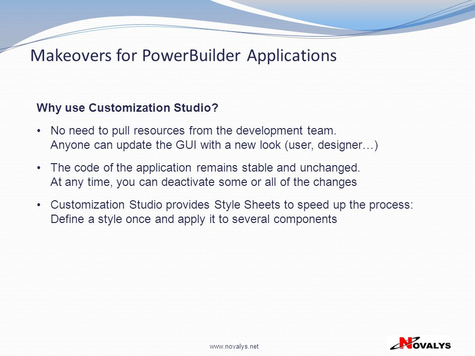 Makeovers for PowerBuilder Applications
