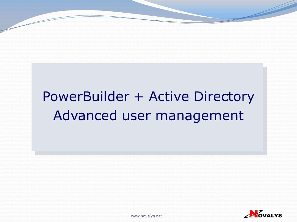 PowerBuilder + Active Directory Advanced user management