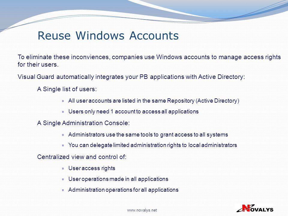 Reuse Windows Accounts