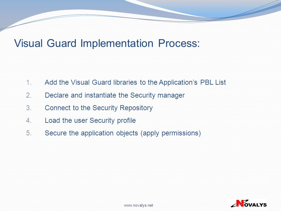 Visual Guard Implementation Process:
