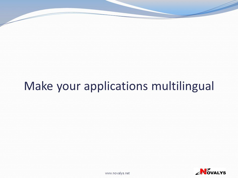 Make your applications multilingual