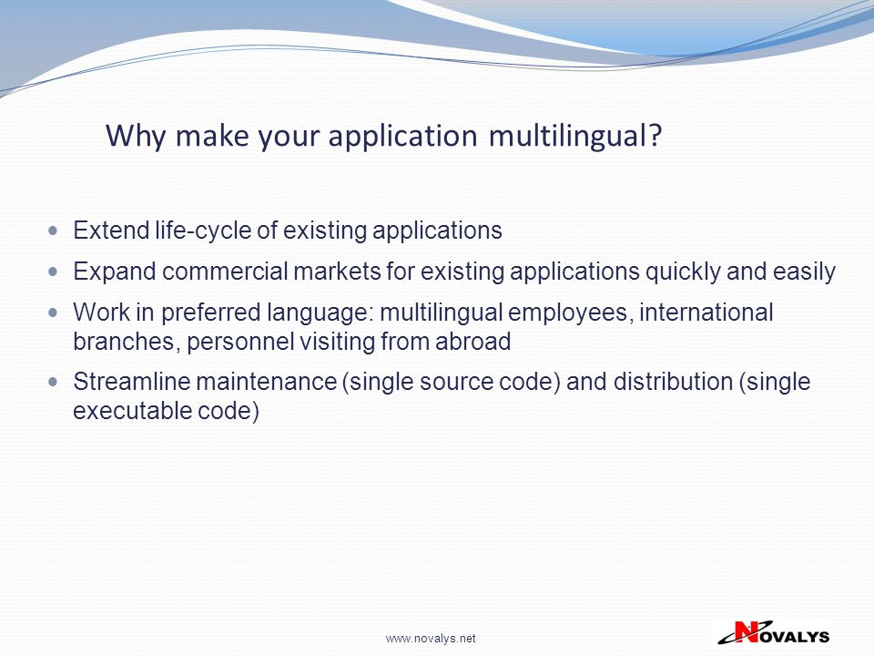 Why make your application multilingual