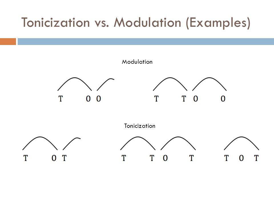 Tonicization vs. Modulation (Examples)
