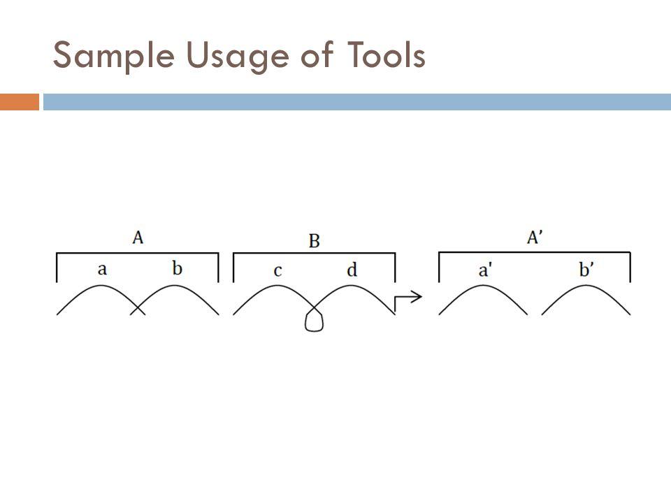 Sample Usage of Tools a b c d a' b'
