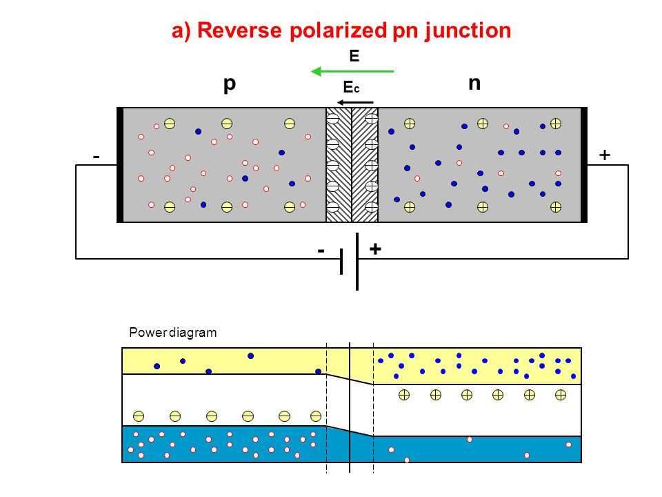 a) Reverse polarized pn junction