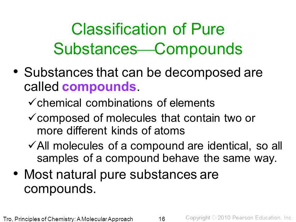 Classification of Pure SubstancesCompounds