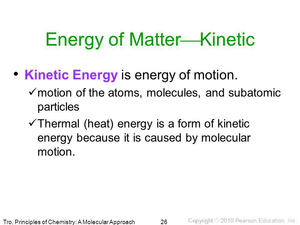Energy of MatterKinetic