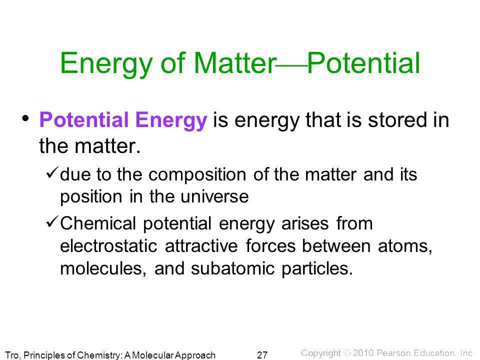 Energy of MatterPotential