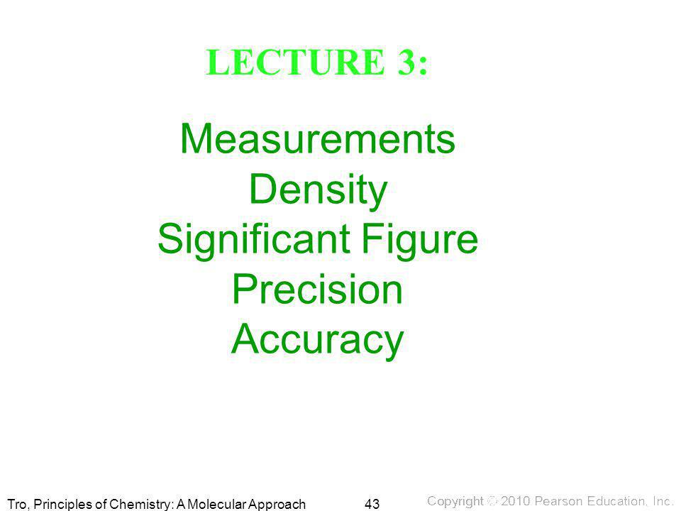 Measurements Density Significant Figure Precision Accuracy