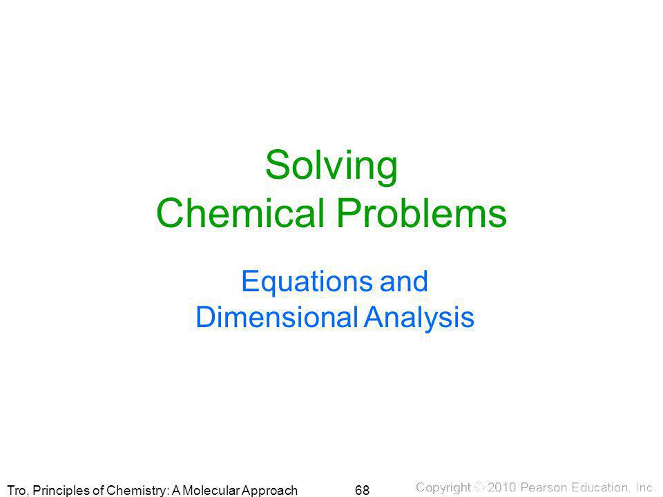Solving Chemical Problems