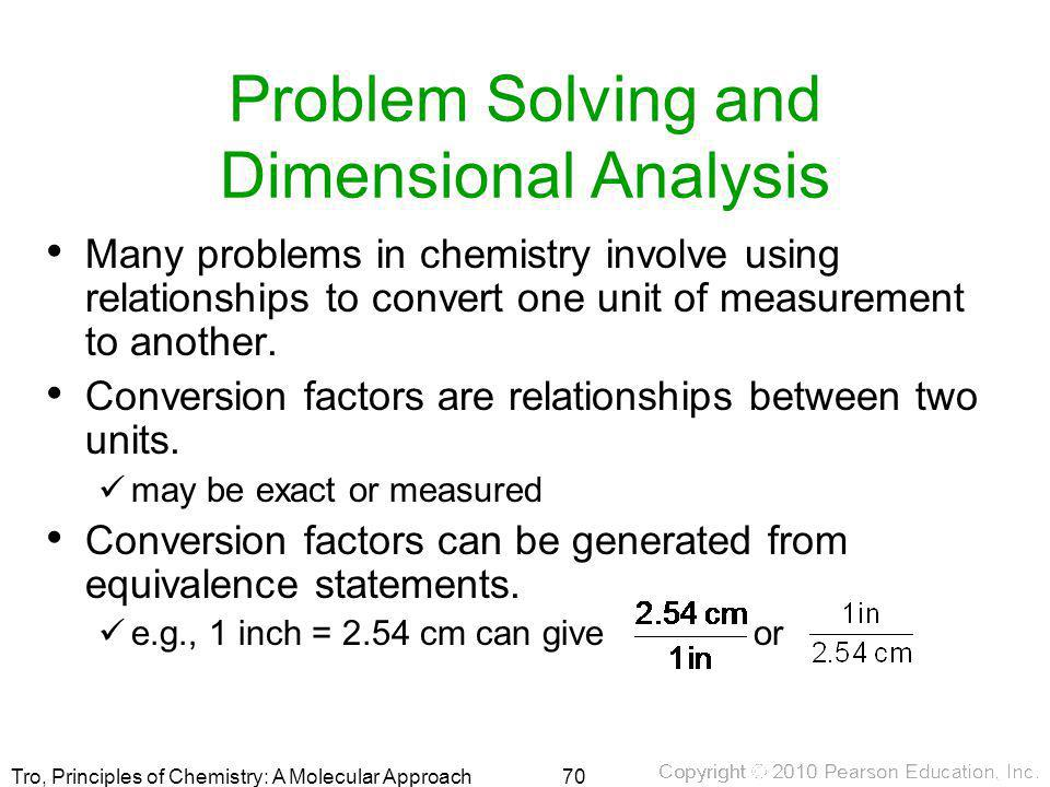 Problem Solving and Dimensional Analysis