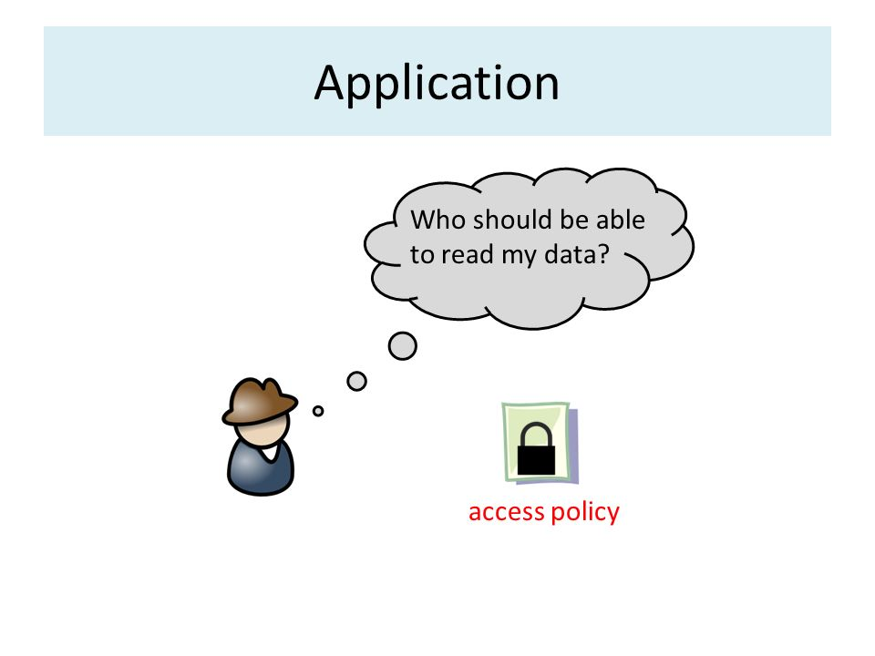 Application Who should be able to read my data access policy