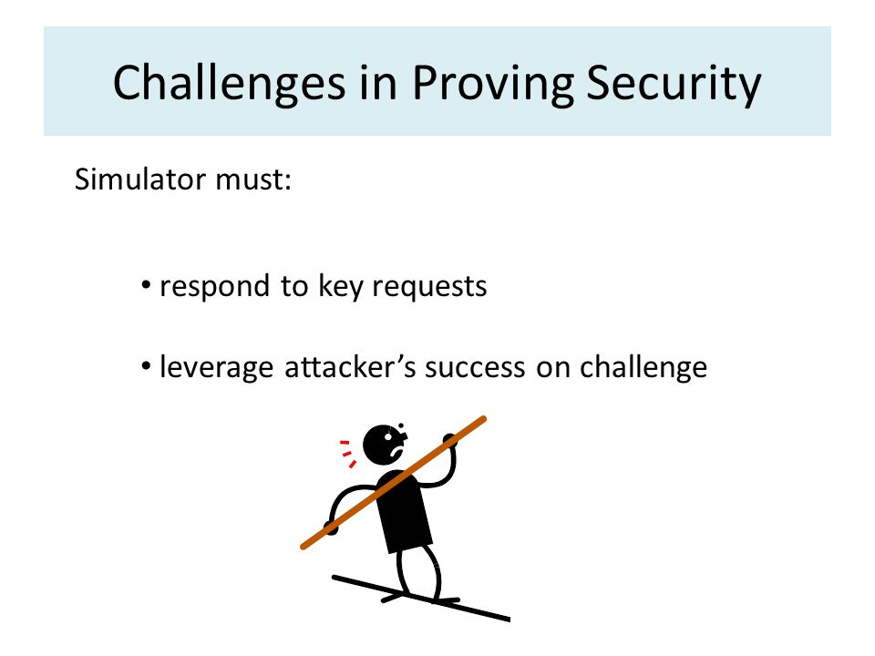 Challenges in Proving Security