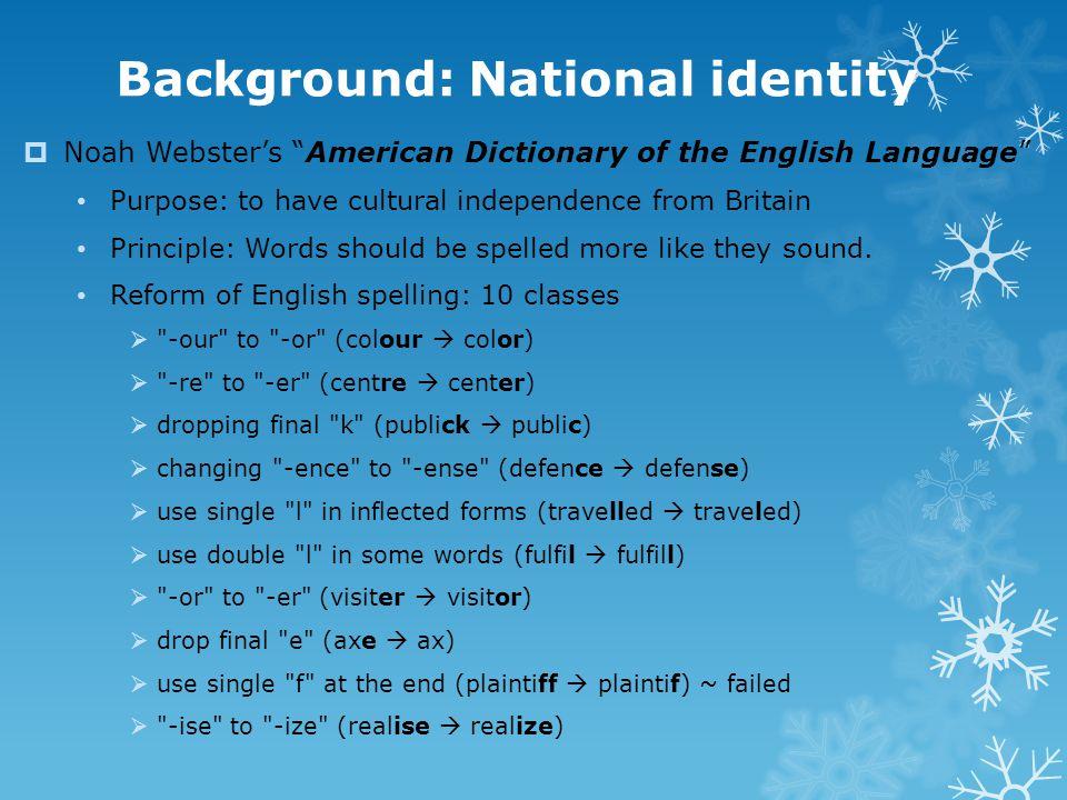 Background: National identity
