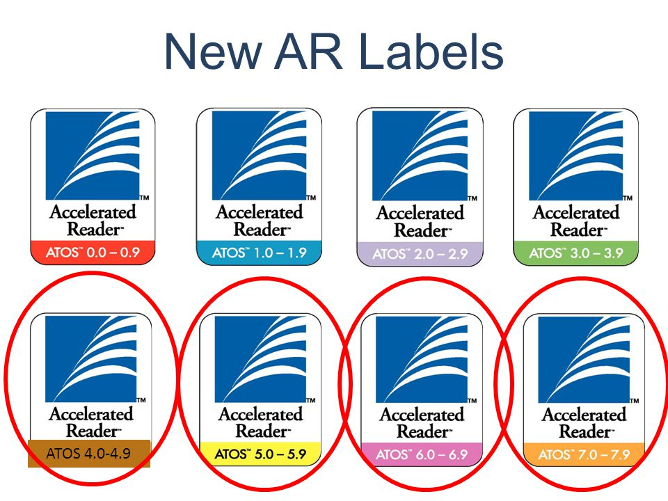 New AR Labels ATOS 4.0-4.9