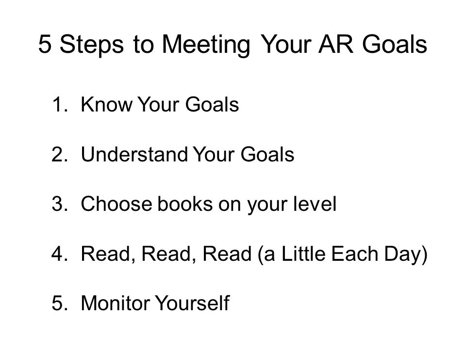 5 Steps to Meeting Your AR Goals