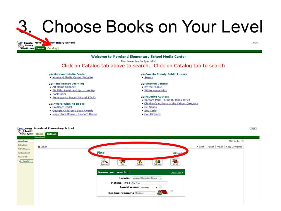 3. Choose Books on Your Level