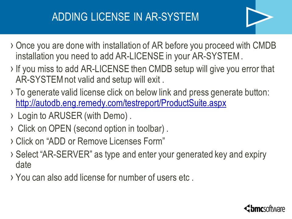 ADDING LICENSE IN AR-SYSTEM