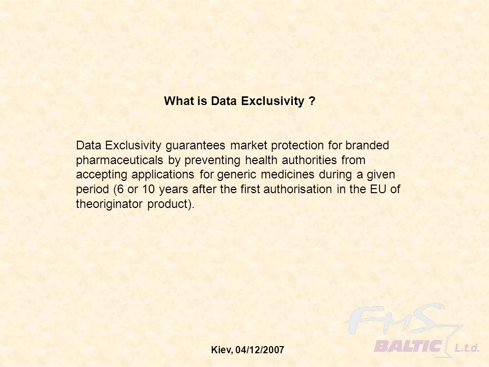 What is Data Exclusivity