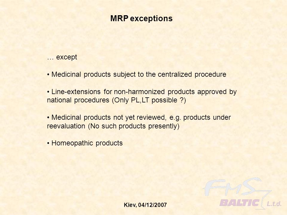 MRP exceptions … except