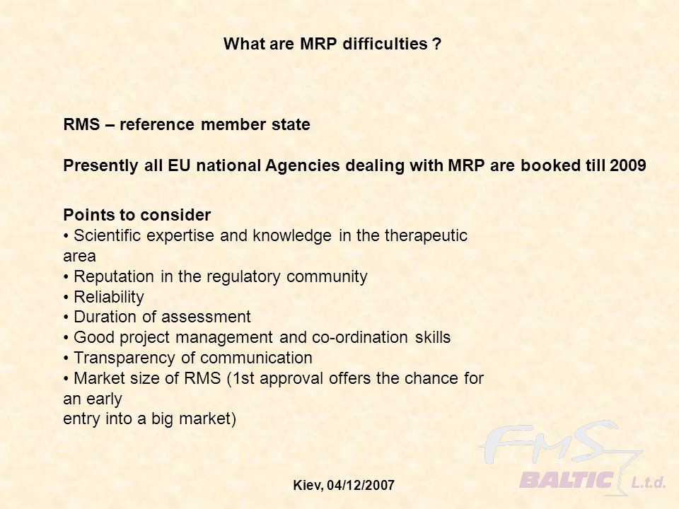 What are MRP difficulties