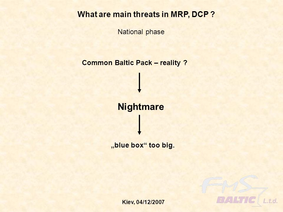 Nightmare What are main threats in MRP, DCP National phase
