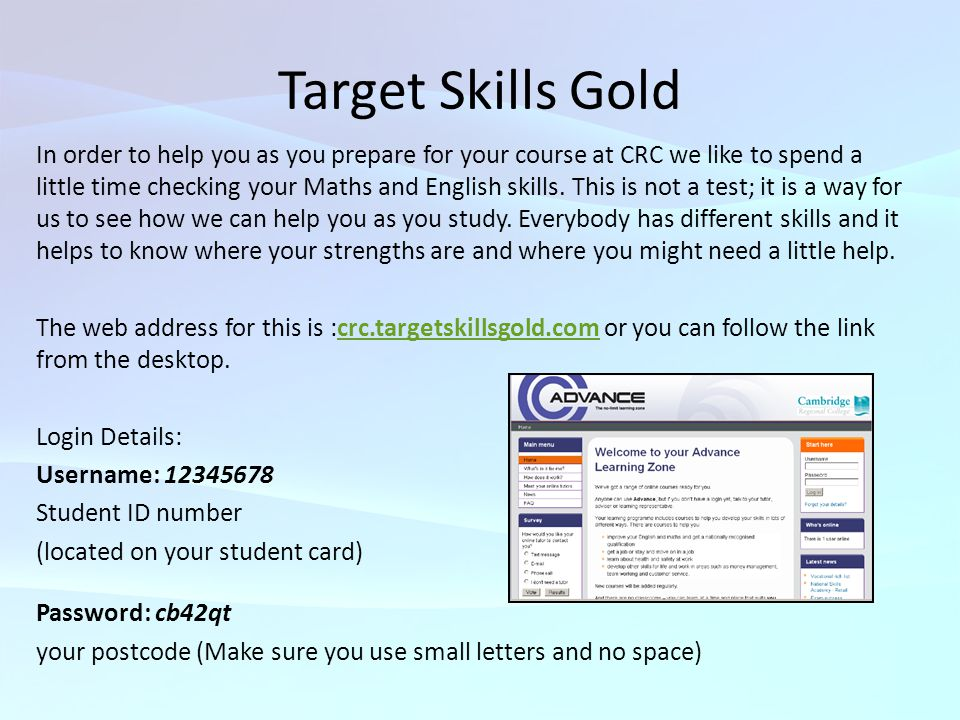 Target Skills Gold