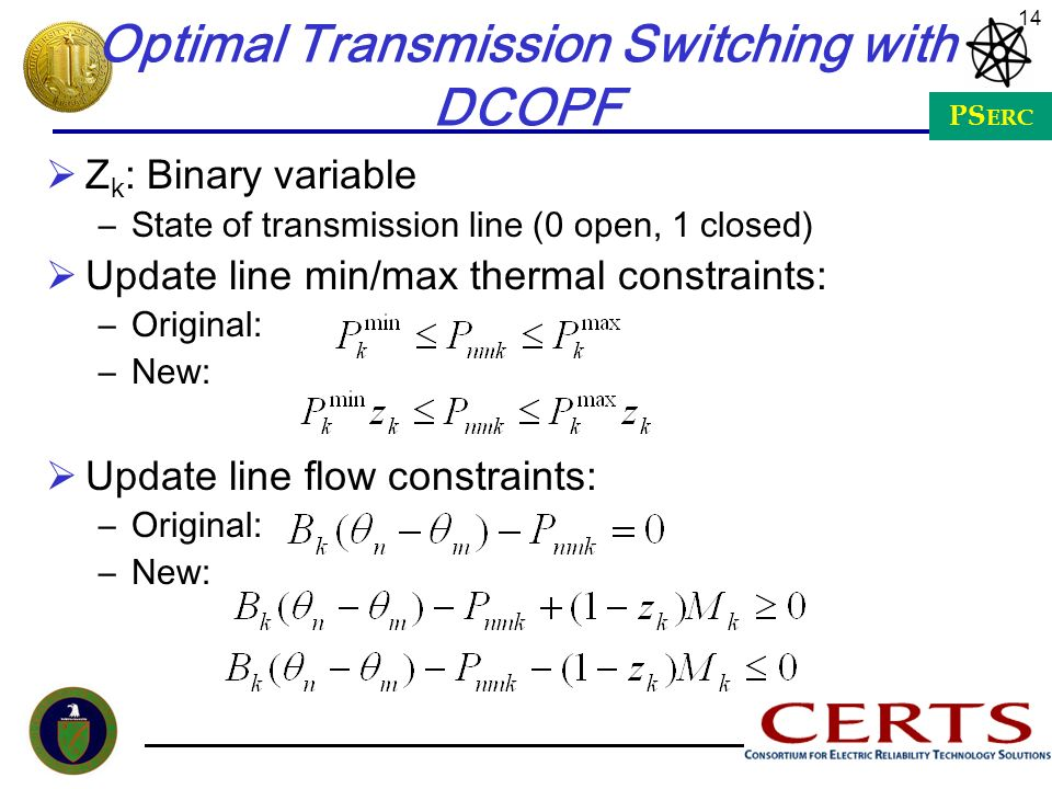 Optimal Transmission Switching with DCOPF