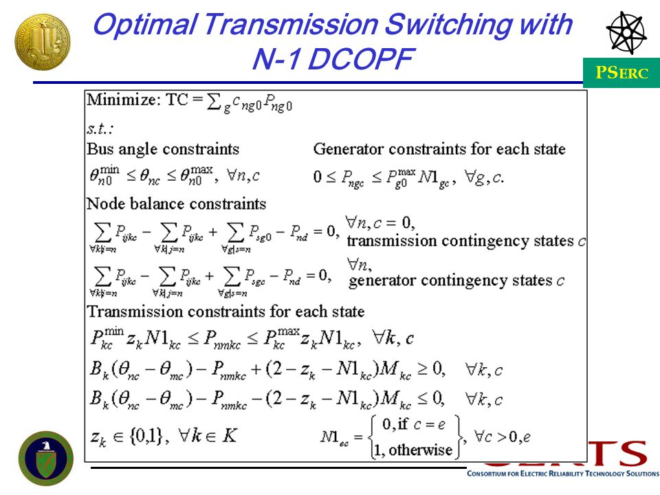 Optimal Transmission Switching with N-1 DCOPF