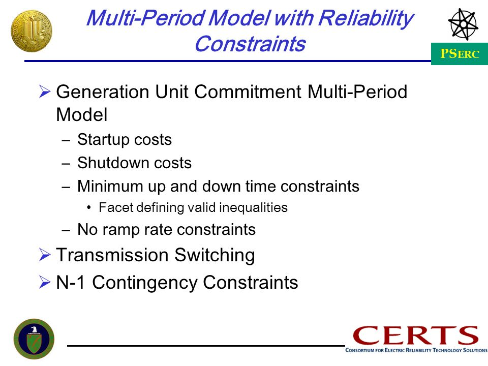 Multi-Period Model with Reliability Constraints
