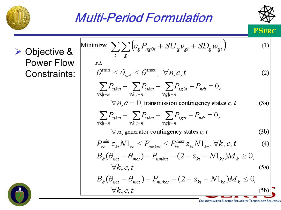 Multi-Period Formulation