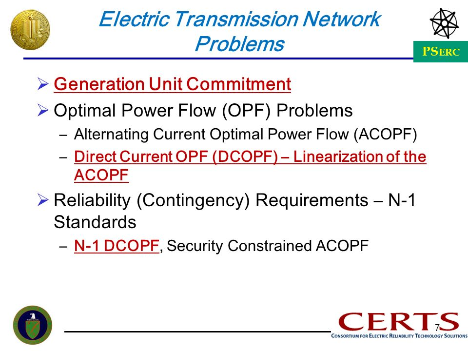 Electric Transmission Network Problems