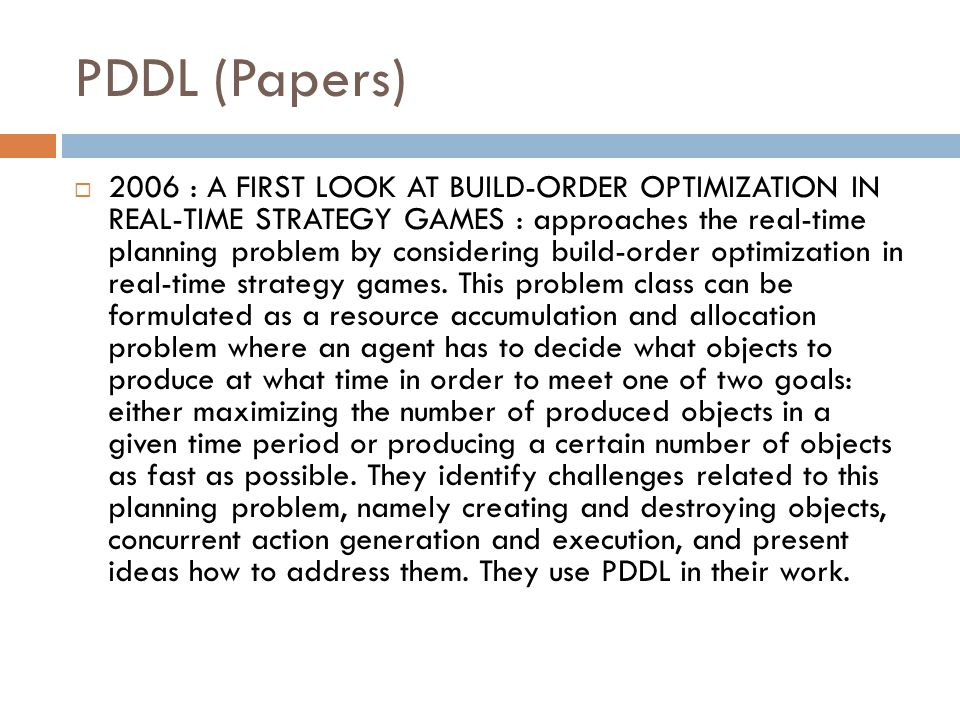 PDDL (Papers)