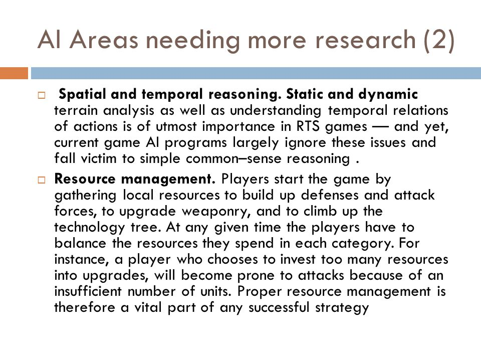 AI Areas needing more research (2)