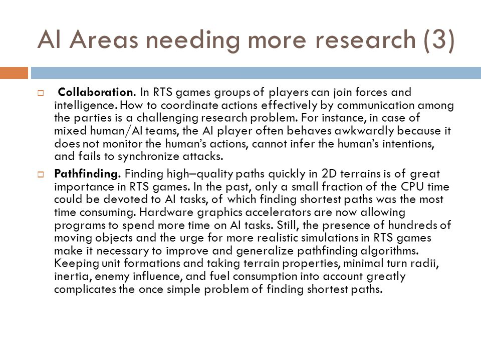 AI Areas needing more research (3)
