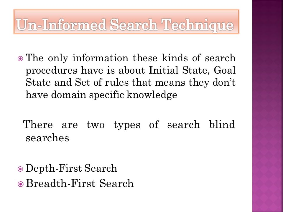 Un-Informed Search Technique