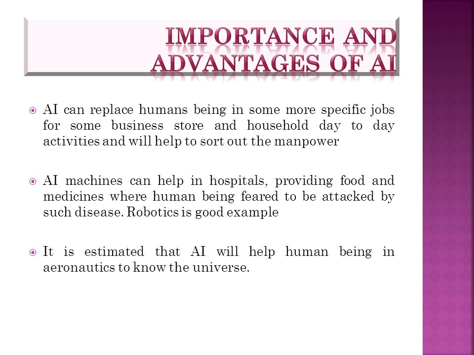 Importance and Advantages of AI