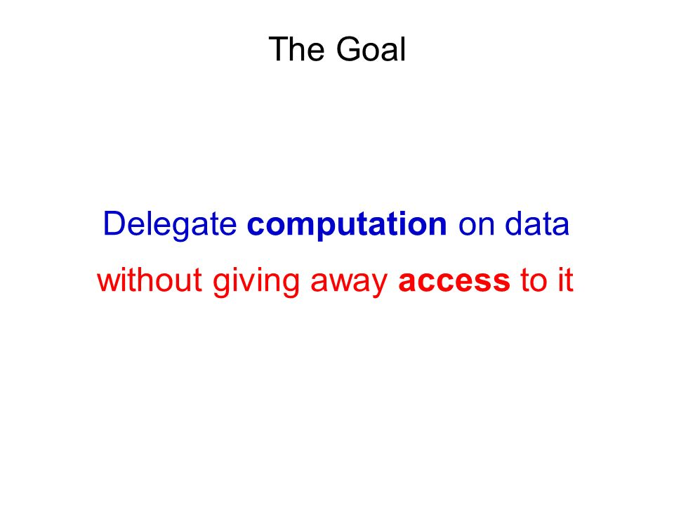 Delegate computation on data