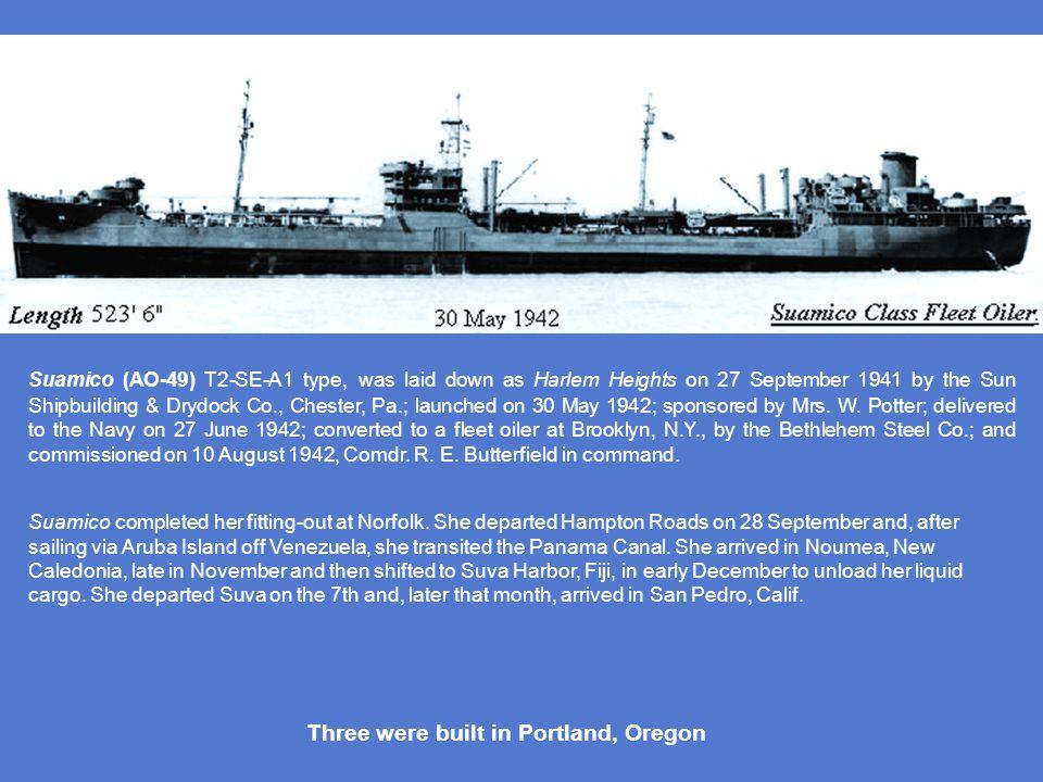 Three were built in Portland, Oregon