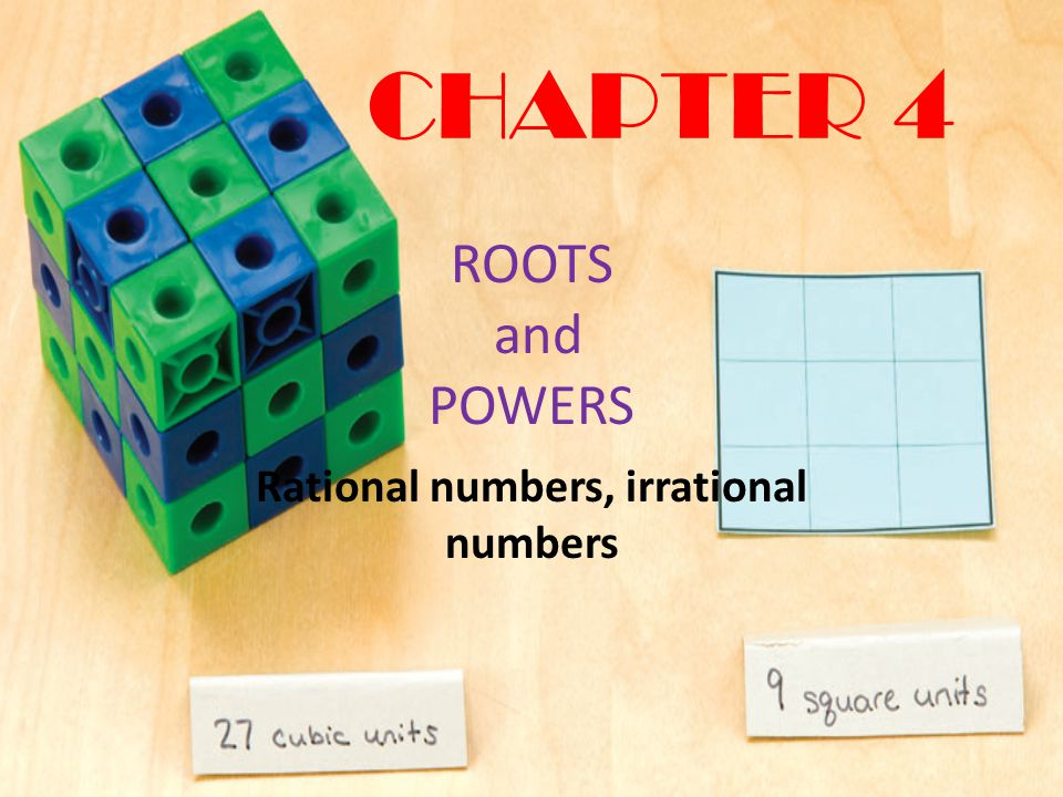 Rational numbers, irrational numbers
