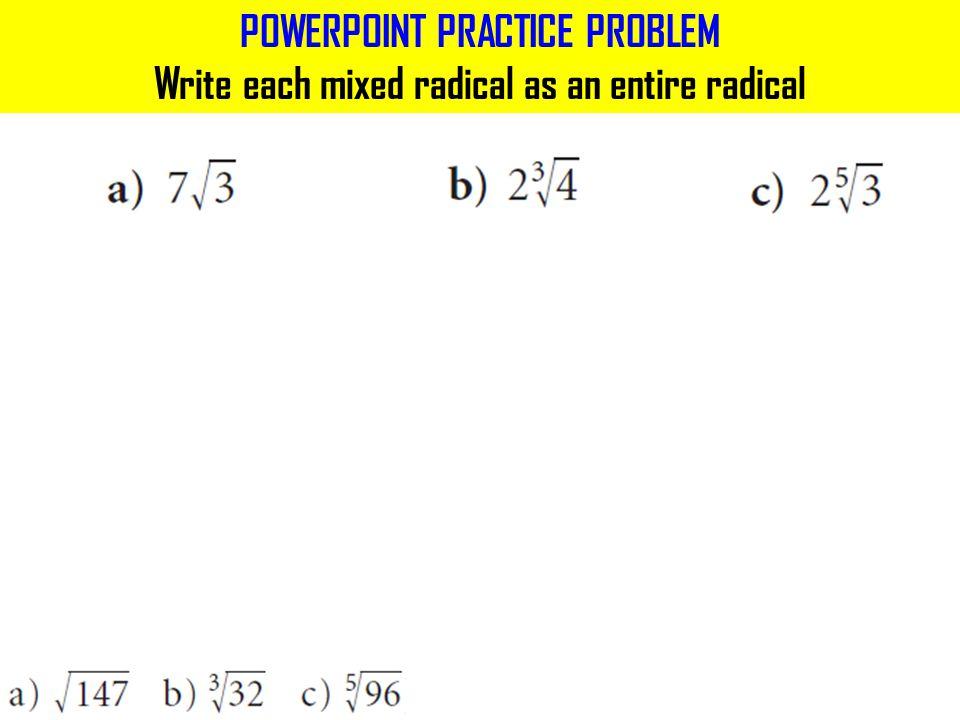 POWERPOINT PRACTICE PROBLEM