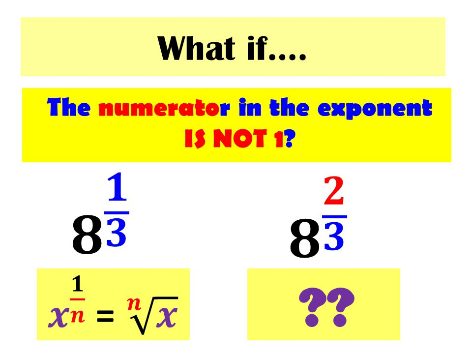 The numerator in the exponent IS NOT 1