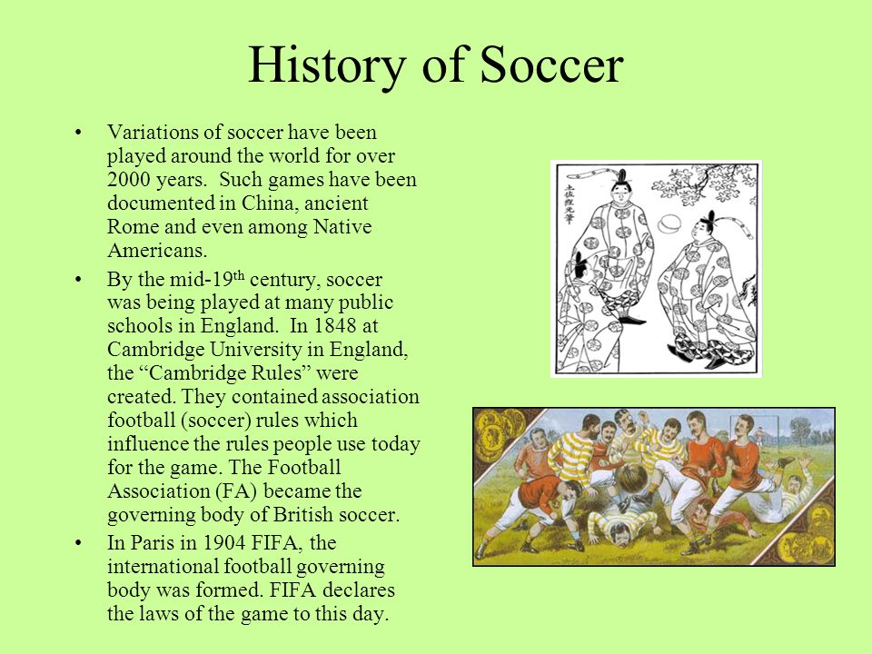 History of Soccer