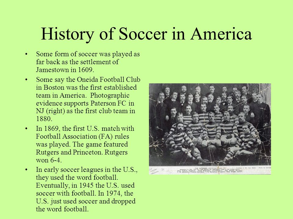 History of Soccer in America