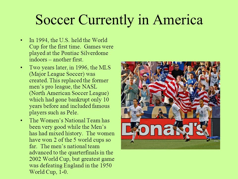 Soccer Currently in America