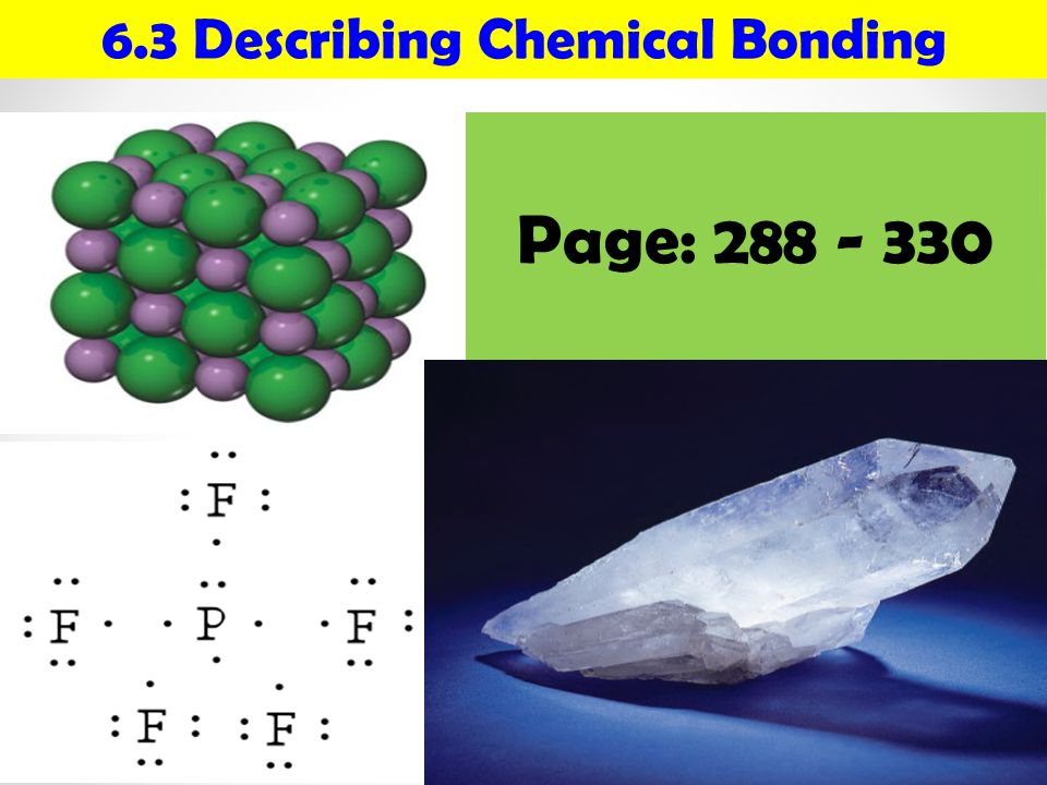 6.3 Describing Chemical Bonding
