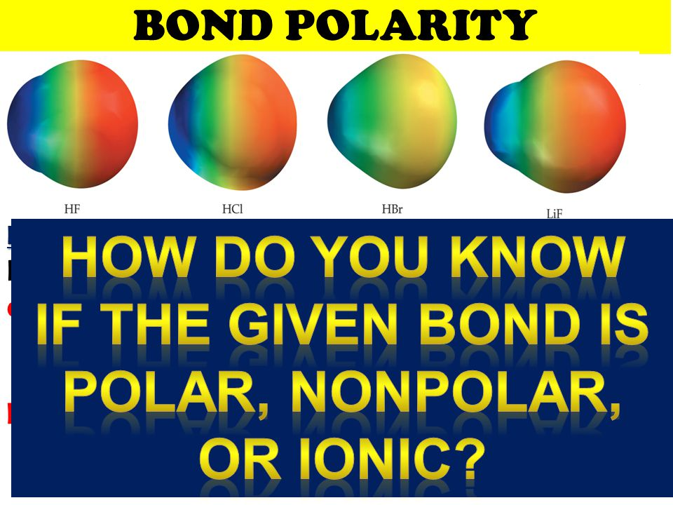 POLAR, NONPOLAR, or ionic