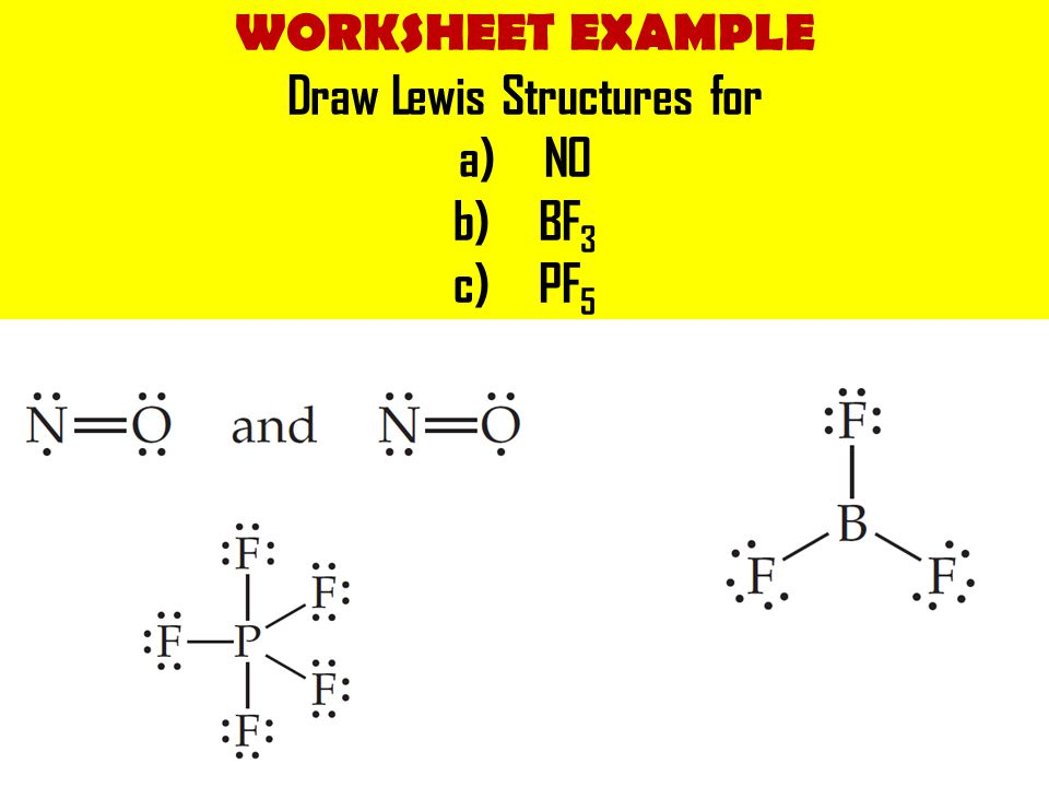 Draw Lewis Structures for