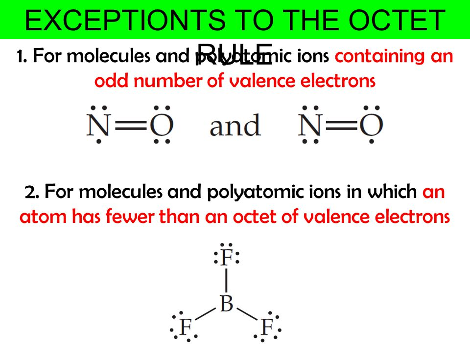 EXCEPTIONTS TO THE OCTET RULE
