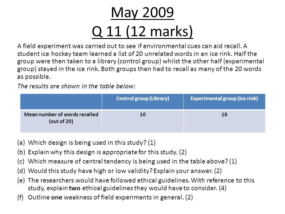 May 2009 Q 11 (12 marks)